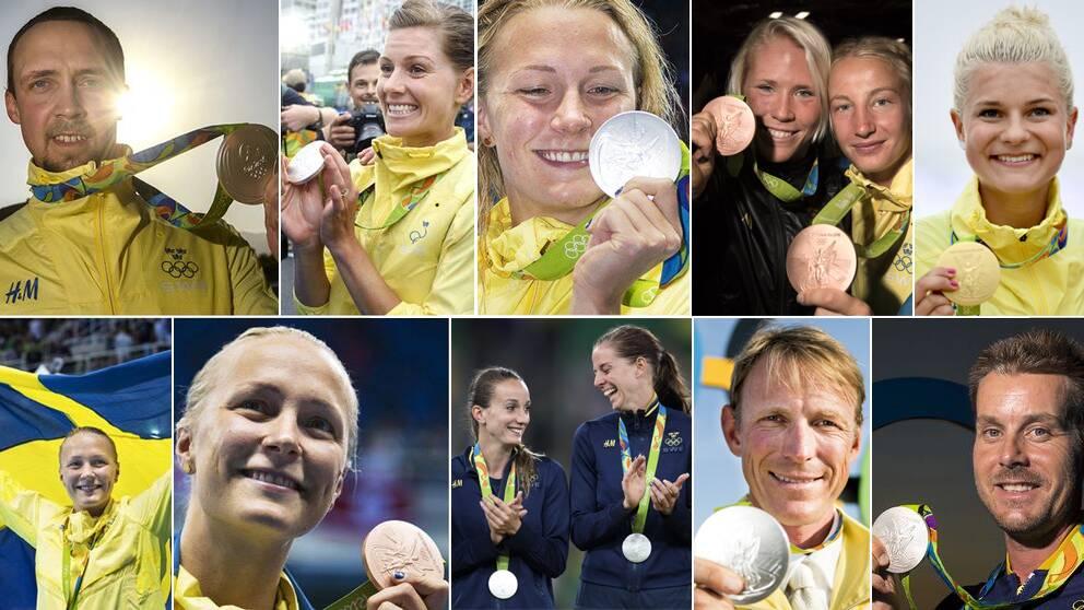 Elva svenska medaljer