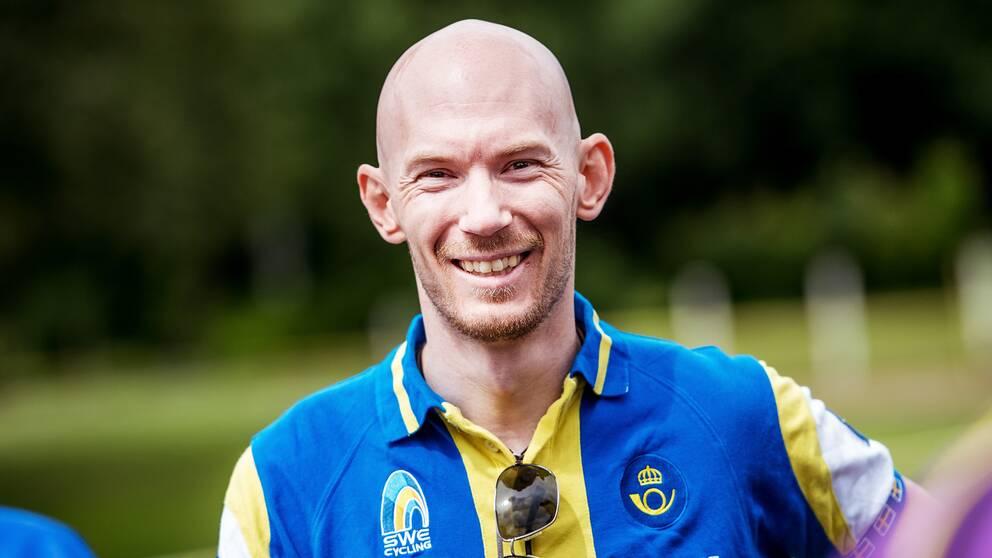 Jenny Rissveds tränare Fredrik Ericsson.