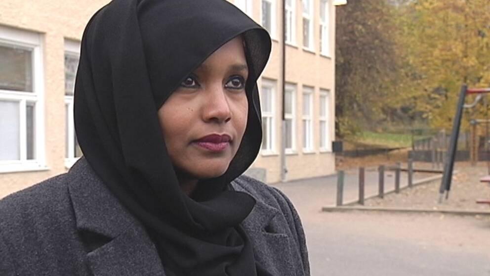 Saida Hussein Moge, fritidspolitiker för Socialdemokraterna och boende i Biskopsgården.