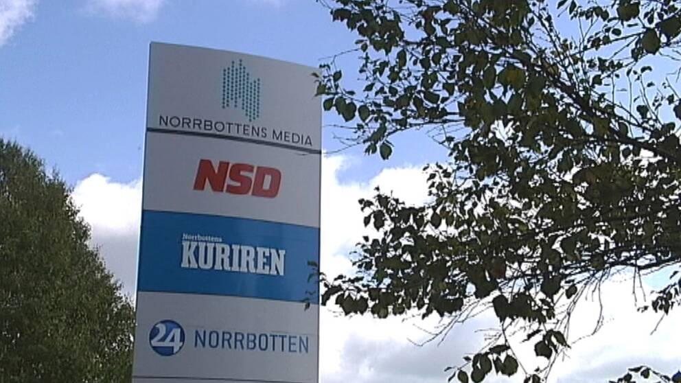 Norrbottens media skylt