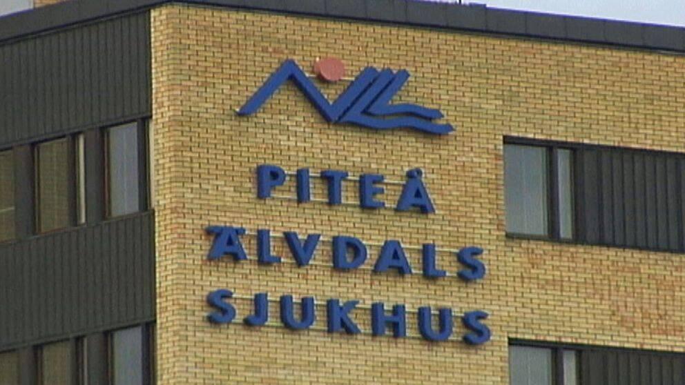 Piteå Älvdals sjukhus skylt