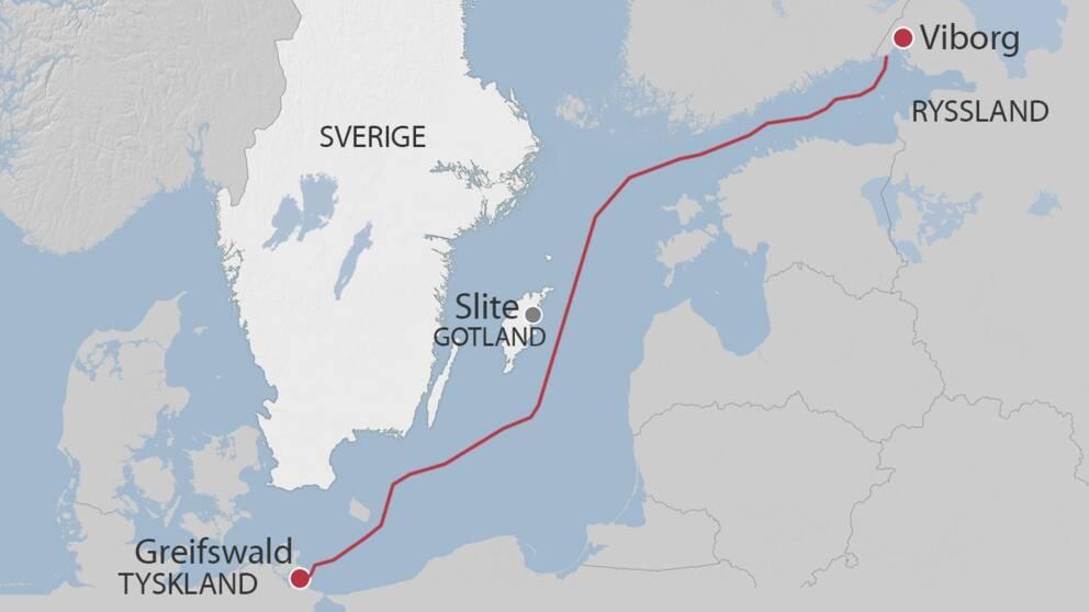 Ledningsdragningen från Viborg till Greifswald